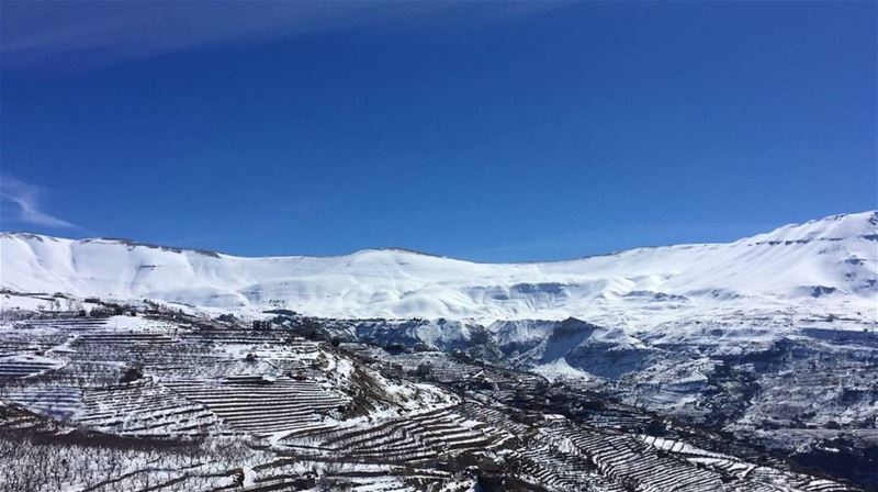 The slopes they talk about❄❄ (Bcharreh, Liban-Nord, Lebanon)
