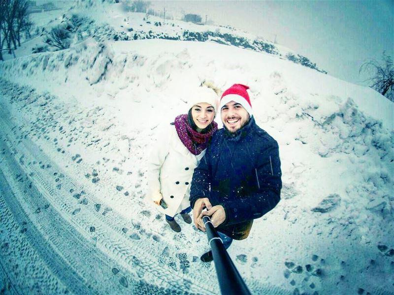 couplegoals 💑🌨❄☃🎅 livelovelebanon goprophotography lebanon_hdr ... (Faqra Kfardebian)