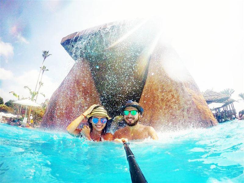 sundaybelike livelovelebanon goprophotography 👒🕶👙💦🏖☉🌊 (Janna Sur Mer Vip Lounge)