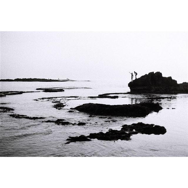 gazing 💁♂️——— kodak 35mm beach justgoshoot lifeofadventure ... (Sidon, Lebanon)