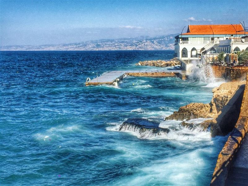 Amazing weather :) lebanon lebanon_hdr ig_lebanon insta_lebanon ... (عين المريسة)