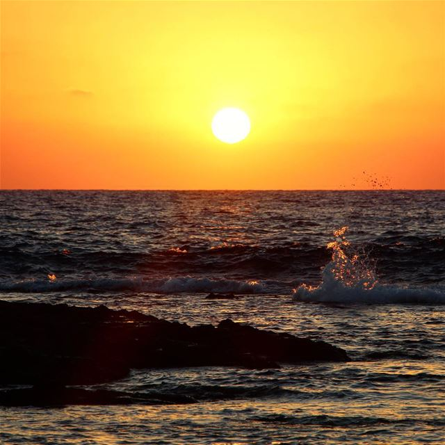 Sunset from @livelovetyre lebanon lebanon_hdr ig_lebanon ... (Tyre, Lebanon)