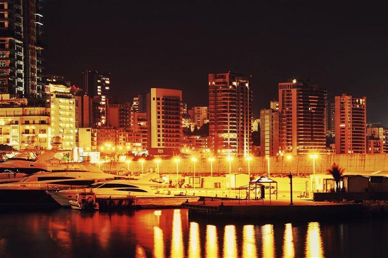 Goodnight Beirut... lebanon lebanon_hdr ig_lebanon insta_lebanon ... (Beirut Waterfront)