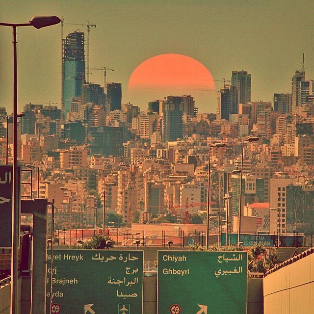 Enjoy every sunset look forward for every sunrise. Photo from Beirut... (Hazmie, Mont-Liban, Lebanon)