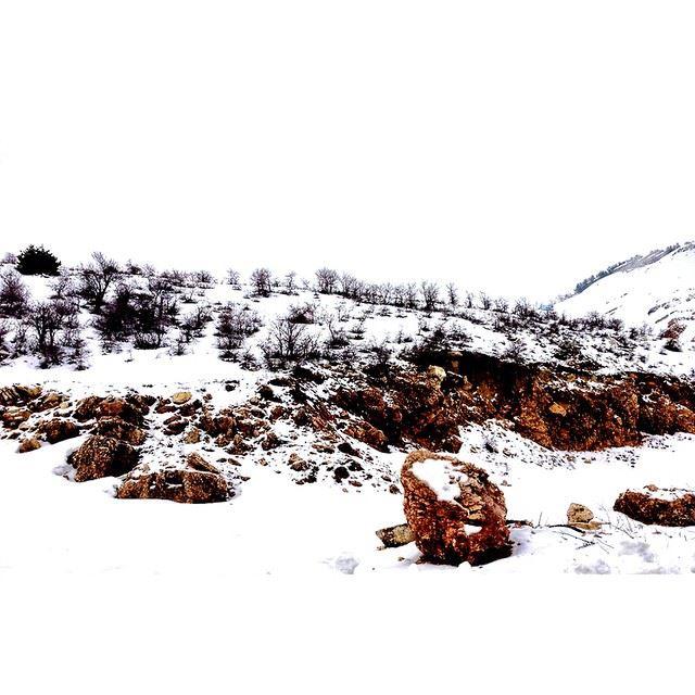 It is white snow lebanon kfardebien wearelebanon proudlylebanese ...