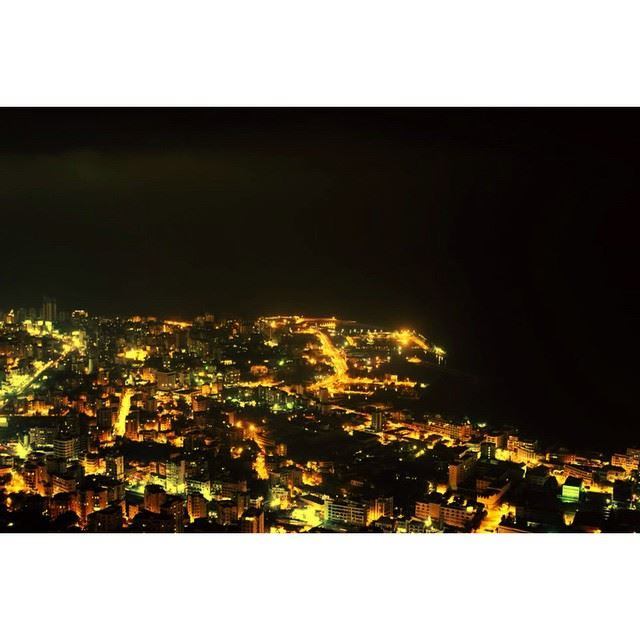 InstaSize marvelous view from harissa jonieh lebanon night lights ...