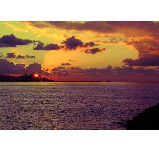 The amazing sunset over Beirut lebanon ilovelebanon livelovelebanon ...