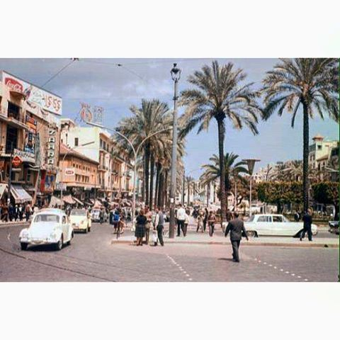 Beirut Martyrs Square in 1956 ,