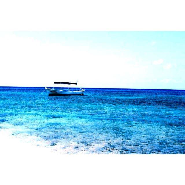 InstaSize blue beach sea boat lebanon tripoli island lonely ...