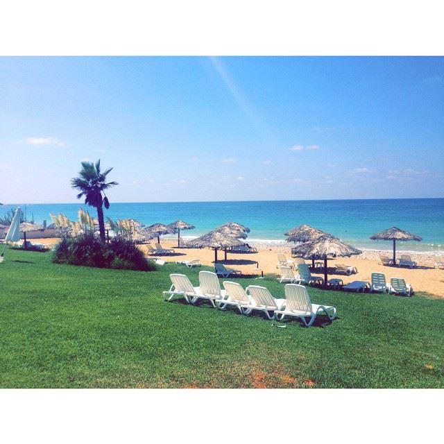 InstaSize blue beach lebanon nakoura ...