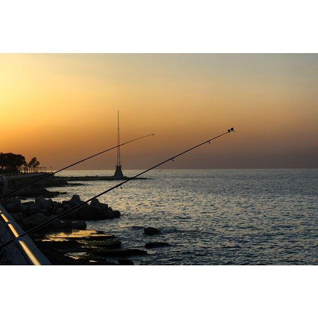 fishing sunset lebanon beirut city lebanon_ig proudlylebanese ...