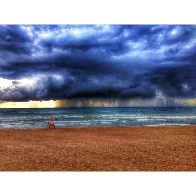 rain over sea storm beirut lebanon wearelebanon ig_lebanon n...