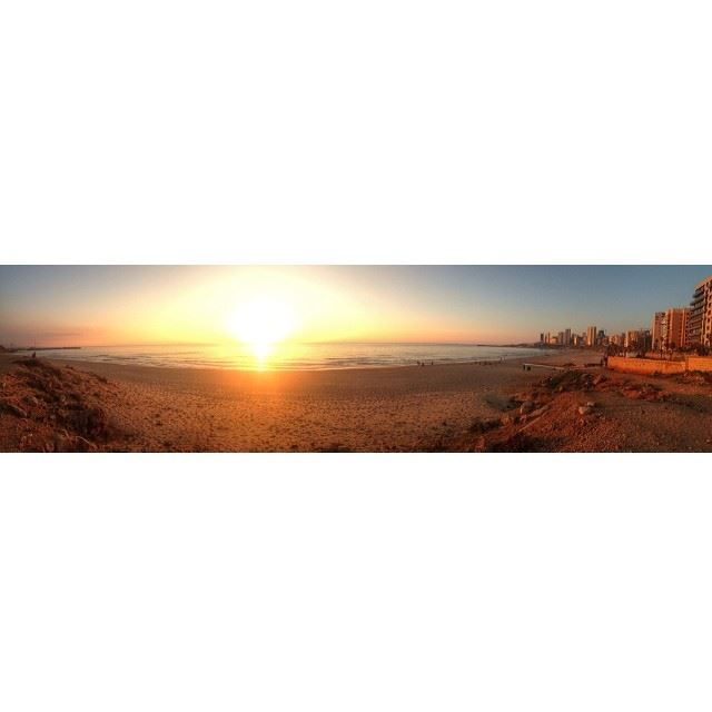 panoramic view sunset beirut ...