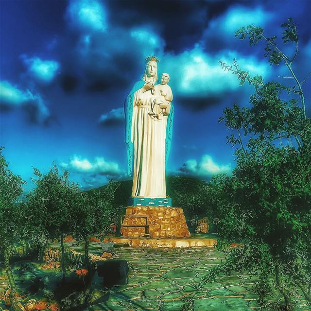 """"""" Mary Our Mother,Sustain Us In Moments Of Darkness,Difficulty And... (كنيسة سيدة البحار)"""