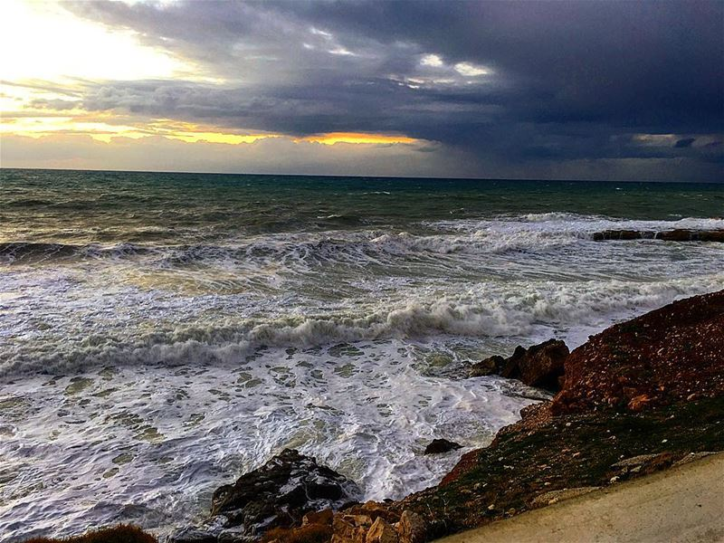 """ The Sound Of Waves Crashing On The Shore Is One Of The Most Relaxing... (Kfarabida Batroun)"