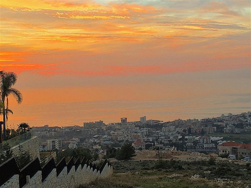 batroun sunset from basbina instapic instalike instaphoto instaview... (Basbina - Batroun)