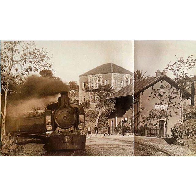 Baabda Train Station - 1917 .