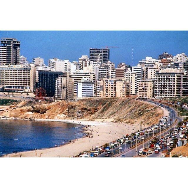 Beirut Ramlet Al Bayda in 1984 ,