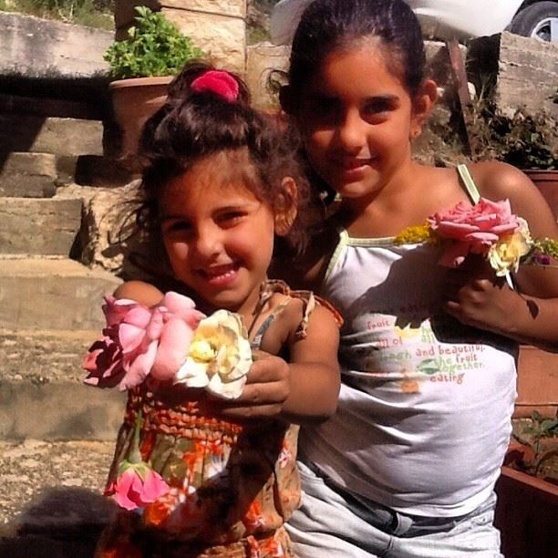 my  two lovely  cute  girls yara cici  lebanon  gharife my grandfather's...