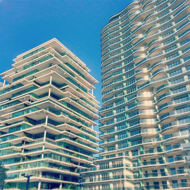 Curves vs straight lines 🏢 beirut architecture love lebanon ... (Beirut, Lebanon)