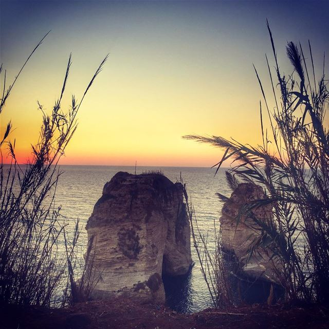 Today's sunset ❤️ sunset beirut love lebanon lebanonspotlights ... (Raouché)