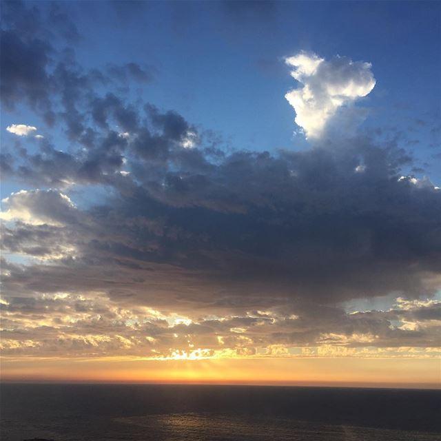 View from the 8th sunset beirut love lebanon lebanonspotlights ... (Manara Beirut)