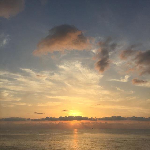 Today's sunset 😍 sunset sea beirut love lebanon nofilter ... (Al Manara Beirut)