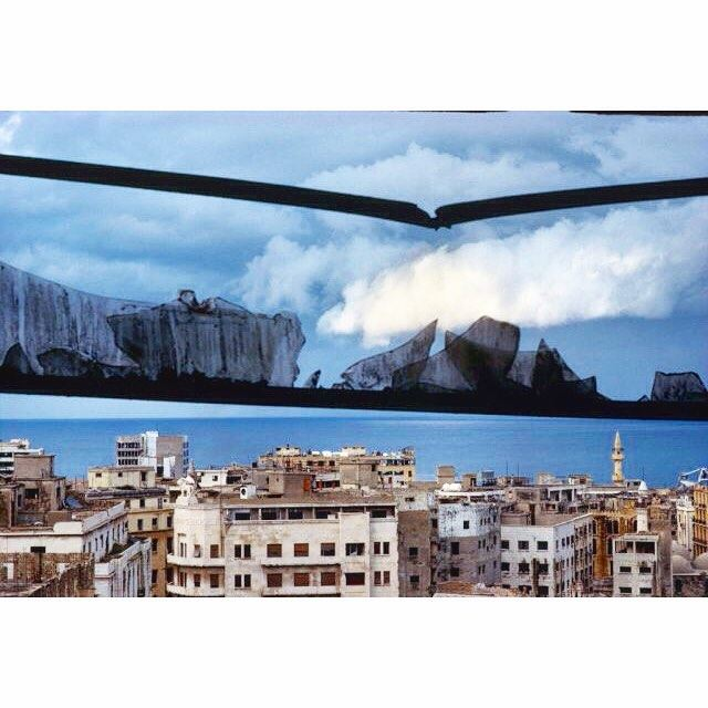 Beirut View From Azarieh Building in 1991 ,