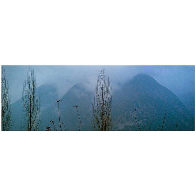 After Christmas Blues. magichour blues mountains mood😎 igersgreece ... (Jabal Moussa Biosphere Reserve)