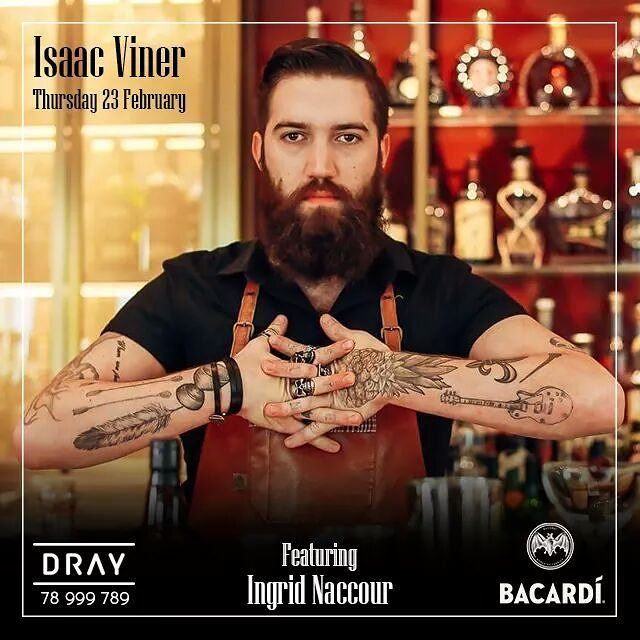 Isaac Viner, Head Bartender at Weslodge Saloon - Dubai will be guest...