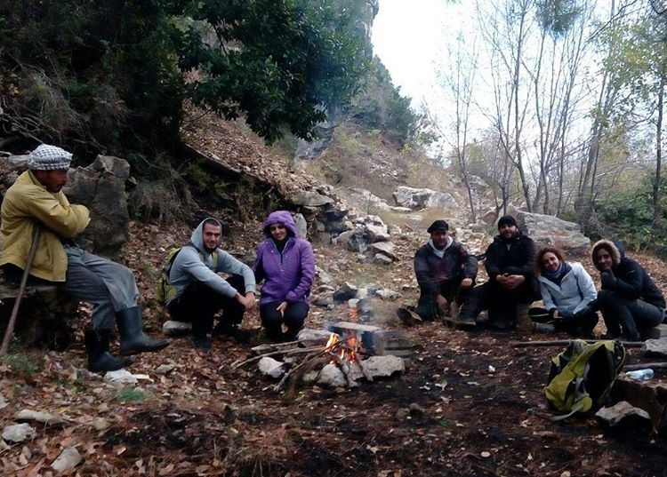 Who wants a tea?Respect to the ultimate mountaineers of LebanonWe hike...
