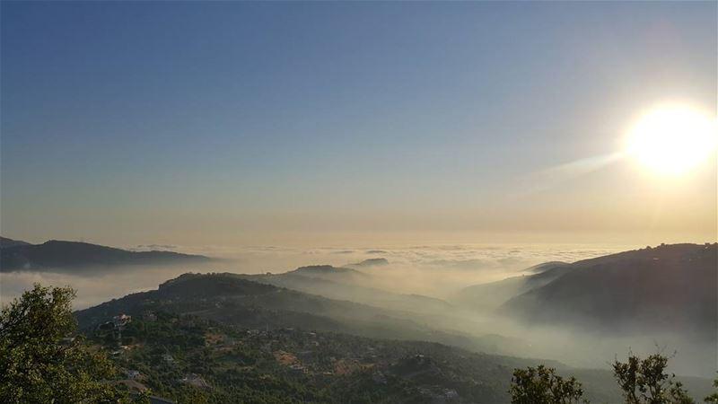 Nothing but a Lebanese sunset qartaba lebanon machnaka sunset mist ...