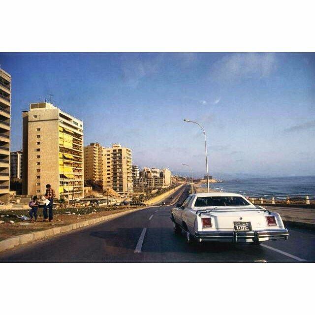 Beirut Ramlet Al Bayda in 1978,