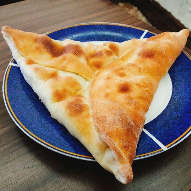 "Wild Thyme ""Pie"" - فطيرة زعتر بري for Breakfast, oh yes!😊😌・・・・・... (Beirut, Lebanon)"