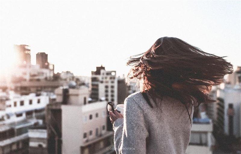 ✨.. rooftops beirut sunset lebanon georgesboutrosphotography girl... (Beirut, Lebanon)