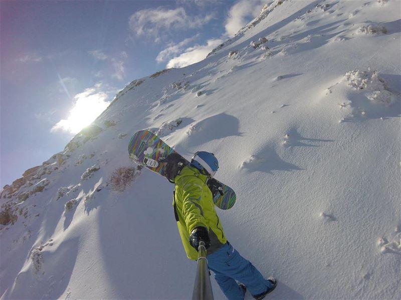 Craving powder 🏂✨.. gopro powder snowboard lebanon burton ... (Beirut, Lebanon)