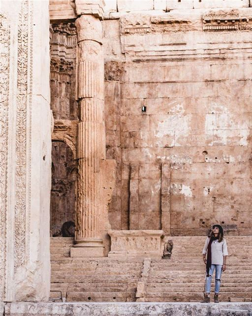 What are you looking at ? 🤔✨.. theoutbound theworldshotz ... (Baalbek, Lebanon)
