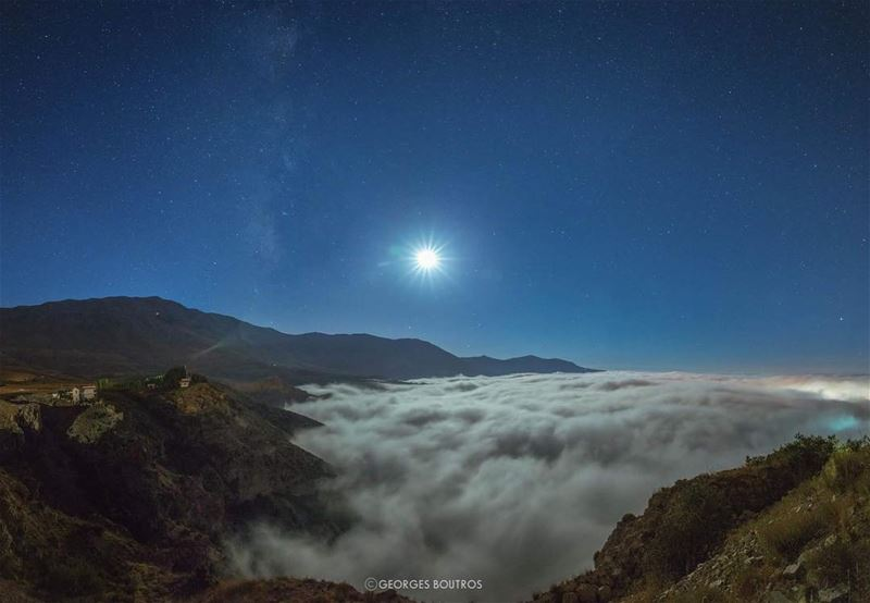 Lifted✨... milkyway moon clouds mylebanon lebanon cedarsofgod ... (Cedars of God)
