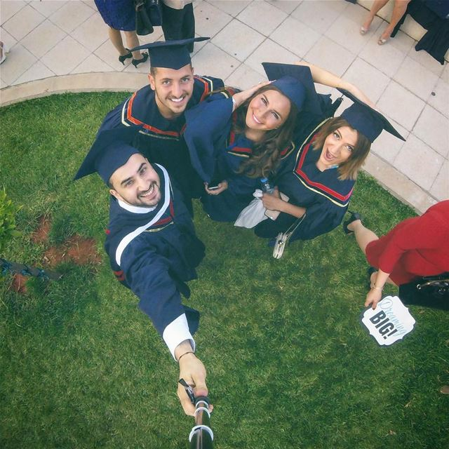 Lady in red said it 😎🙌🏼 tb graduationday uob alba ... (Beirut, Lebanon)