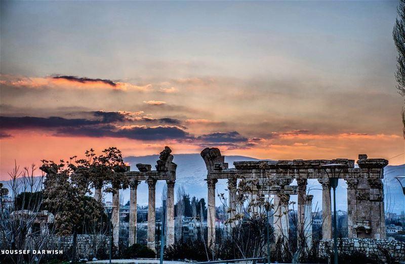nikond7100 nikon nikonlebanon meetlebanon baalbeck temple sunset ... (Baalbek, Lebanon)
