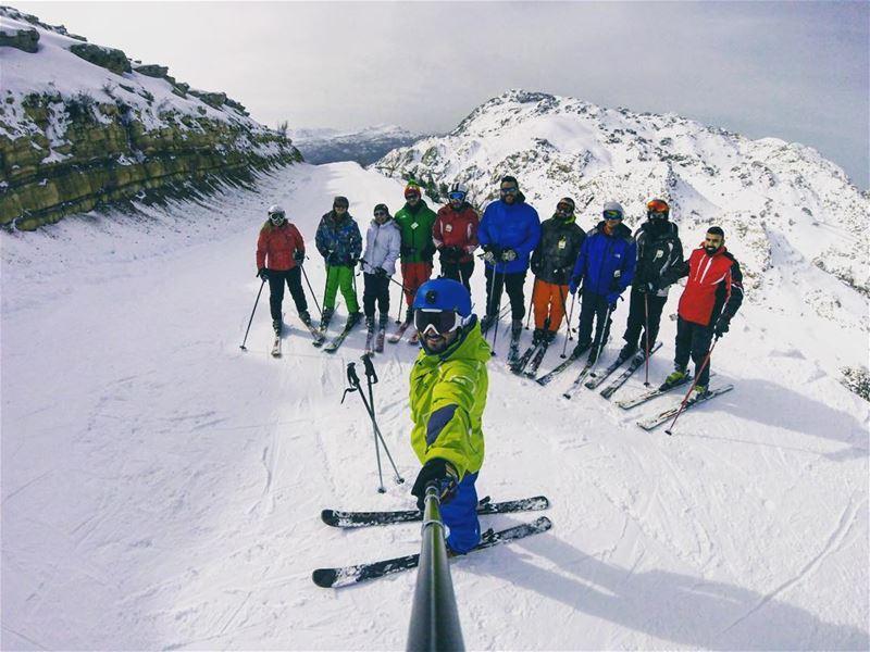 Morning workout ⛷☀️ lebanon mylebanon ski laklouk gopro ... (Laklouk Resort)