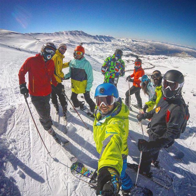 The squad 🚨 rolling ✨ lebanon mylebanon gopro NRJML TNFNRJ ... (Cedars of Lebanon ski resort)