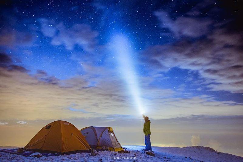 Higher👆🏼 From the first snow camp of the season!! Enjoy. ... (Kornet El Sawda)