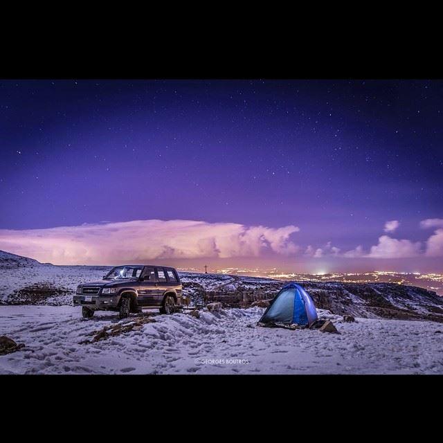 First row seats! Snow CampLocation: Ehden mountains lebanon... (La Reserve Horsh Ehden)