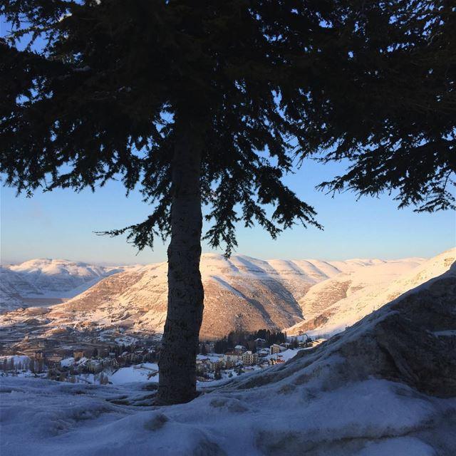 Snowed pyramids livelovelebanon lebanon faraya nofilter snow ... (Faraya Mzaar)