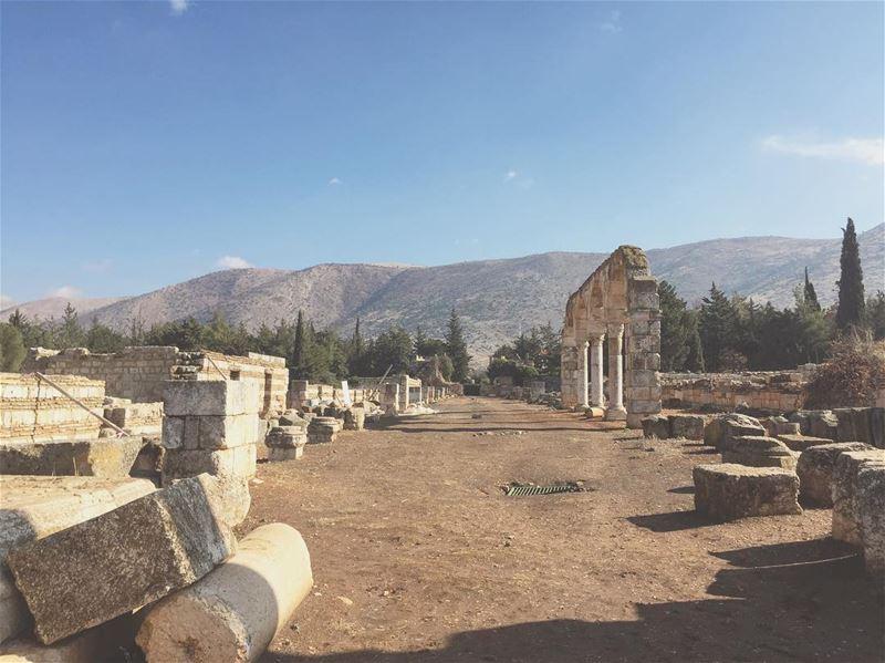 الجبال الشرقية من لبنان lebanon bekaa anjar castle ruins antilban ... (Anjar_Anjar Castle)