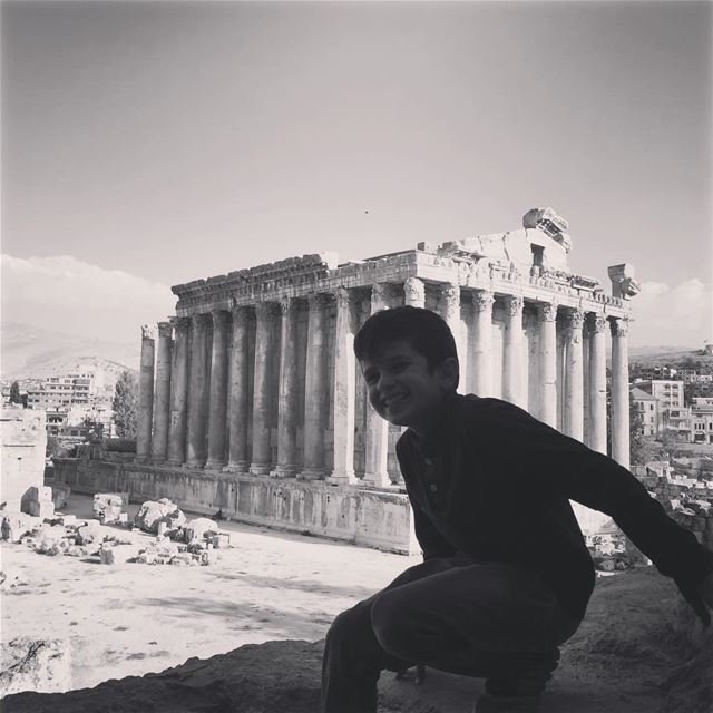 He owns the temples.  livelovelebanon  middleeast  lebanon  cedarscountry ... (Baalbek , Roman Temple , Lebanon)