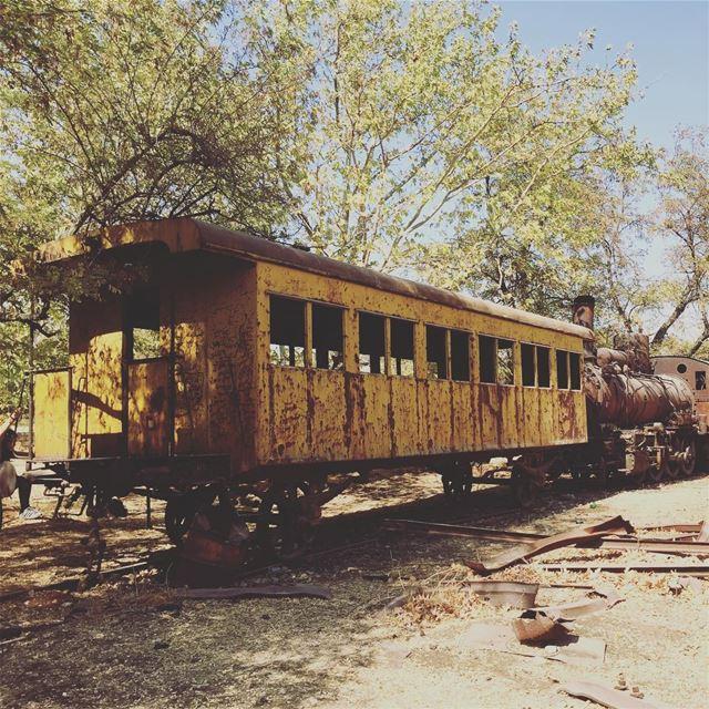 livelovelebanon livelovebekaa middleeast roadtrip bekaa rayak train... (Rayak- Bekaa)