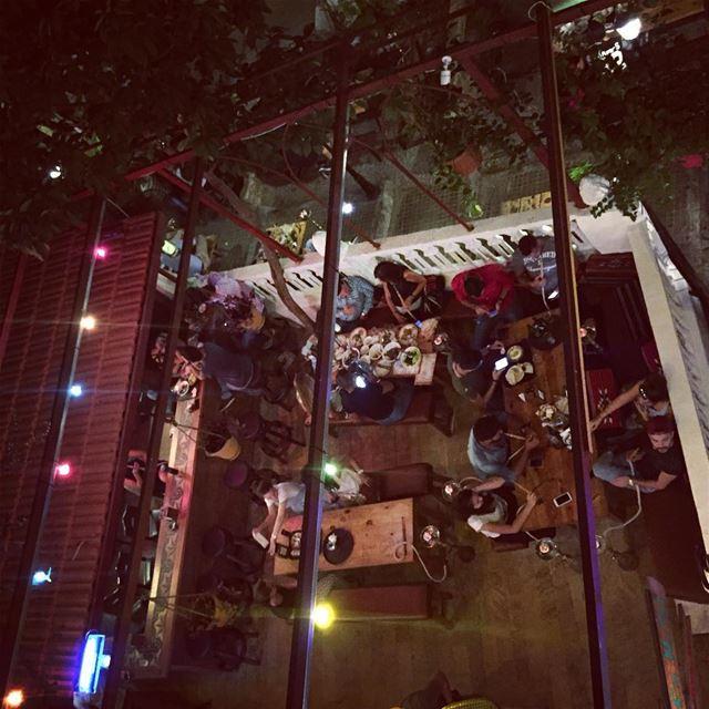 beirut lebanon firstnightout rooftopbar mezze narguile ... (Gemmayze)