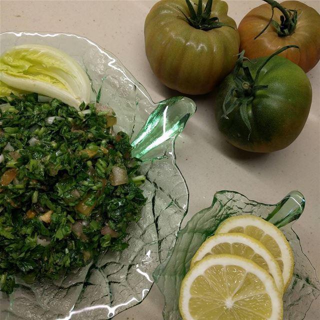 tabbouleh freshvegetablesalad freshvegetables lebanon ...